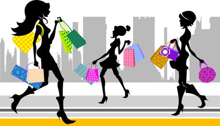 Vektor der Einkaufenmode-Zahlen