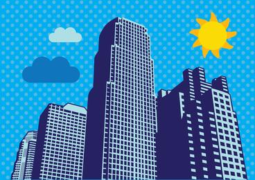 Stadt-Wolkenkratzer-Vektor