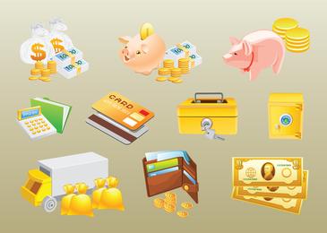 Vetores de dinheiro