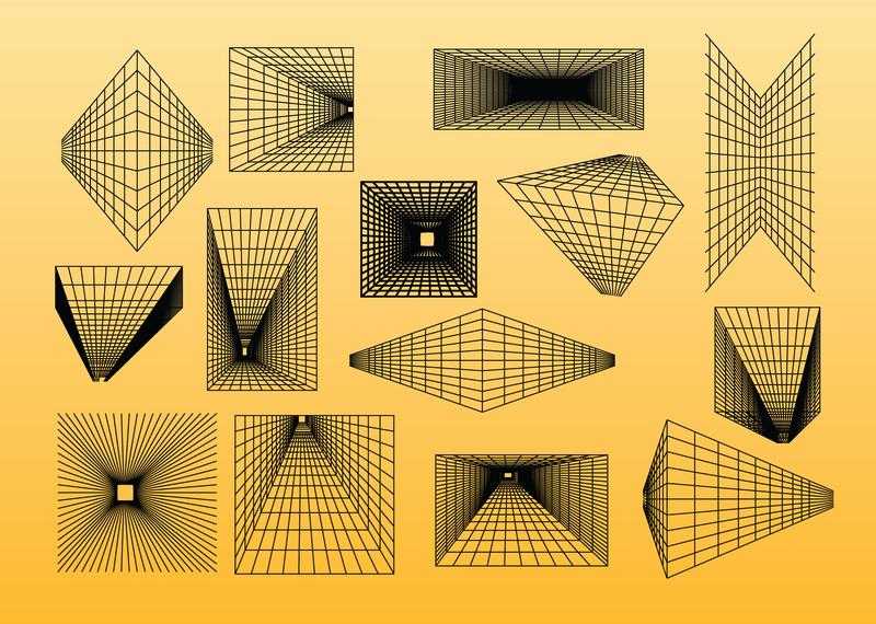Las formas del marco del alambre - Descargar vector