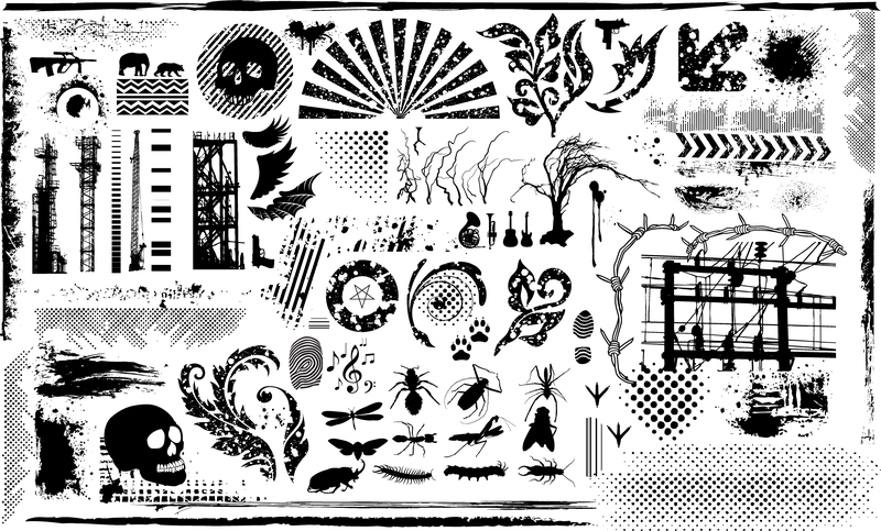 Black And White Design Elements Vector Series 7 Current Element