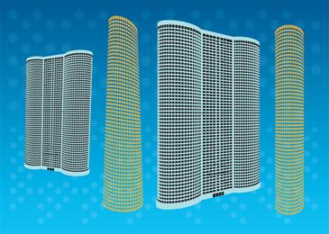 Vectores gratis torre rascacielos