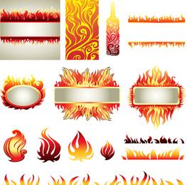 Flame Elements Vector
