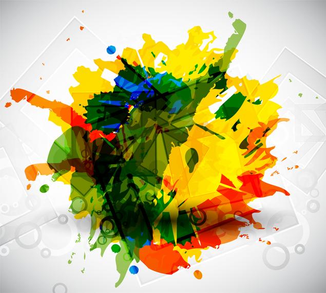 Arte vetorial colorida