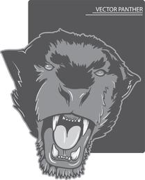 Wilder Tier-Hauptvektor