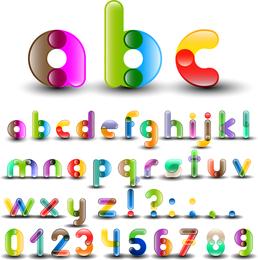 Alfabeto colorido com números