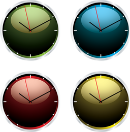 Clock Vector Set