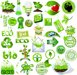 Vector de elemento verde