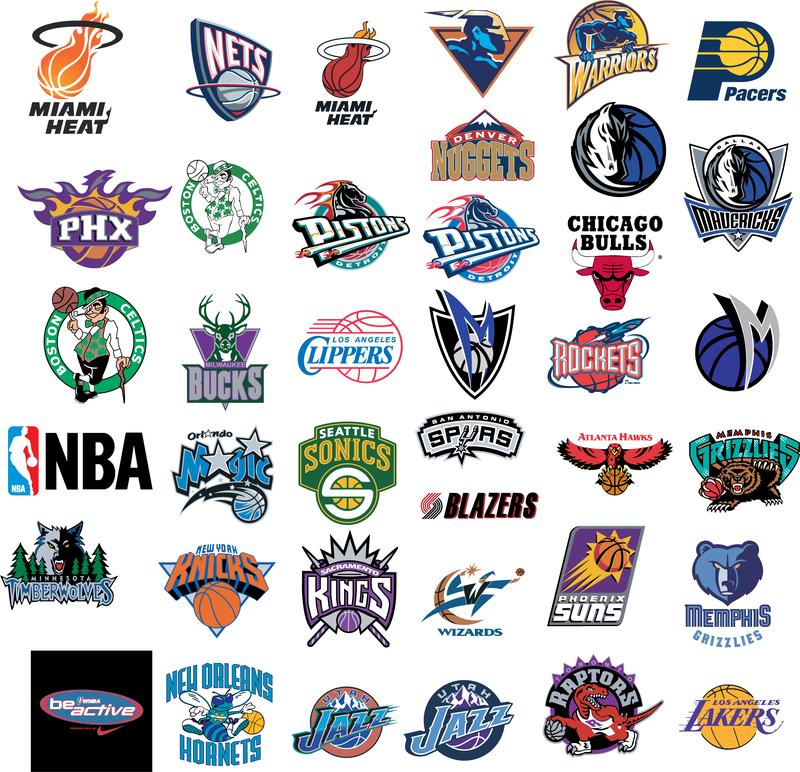 nba basketball team vector logos vector download