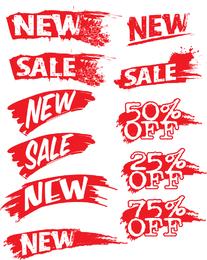 Vector Decorative Sales Discount