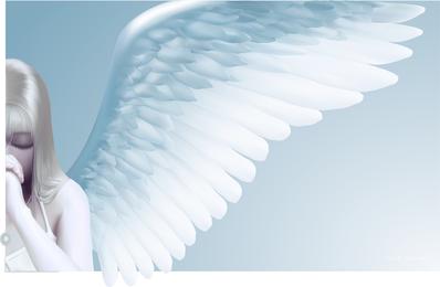 Vektor-Engel beten