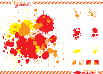 Free Vector Splats And Hatchings