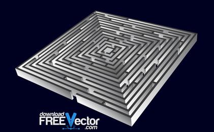 Labirinto de vetor 3D