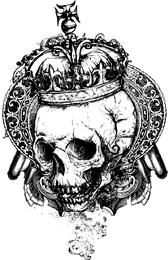 Vector libre Grunge cráneo 2