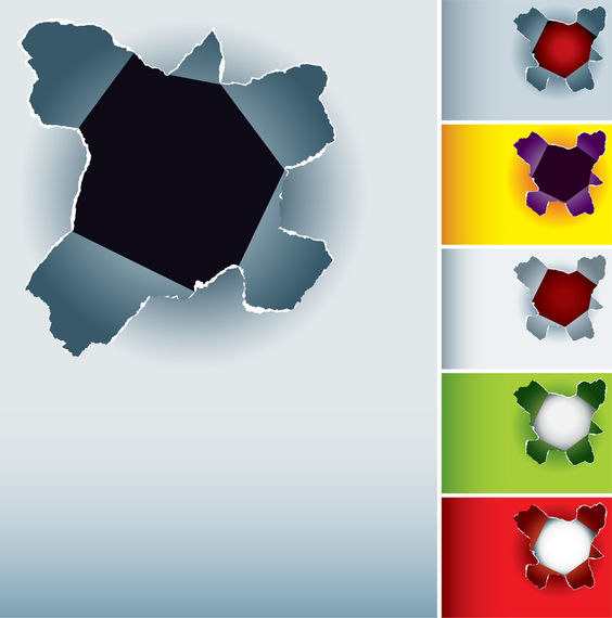 Hole In The Paper Vector
