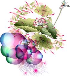 Chegada da melodia da flor