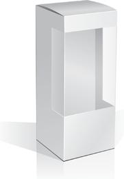 1 caja de vector en blanco