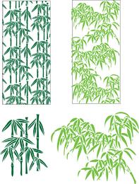 Vector de hojas de bambu