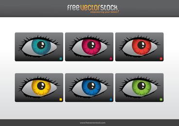 Colourful eyes illustration