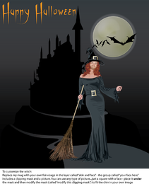 Halloween Witch Poster