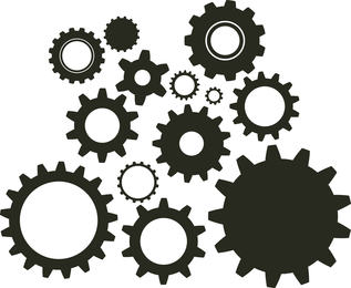 Random Free Vectors O Part 10 Gears