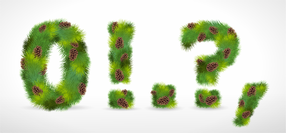 Composed Of Pine Numbers Vector
