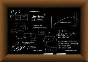 Vektor-Tafel gefüllt mit Gleichungen