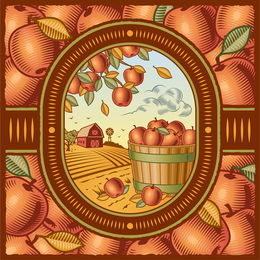 Retro Farm Harvest 01 Vector