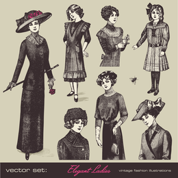 Retro Fashion Model 05 Vector