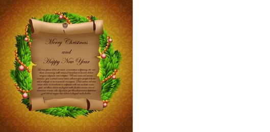 Pergamentgrußkarten und Geschenk-Vektor