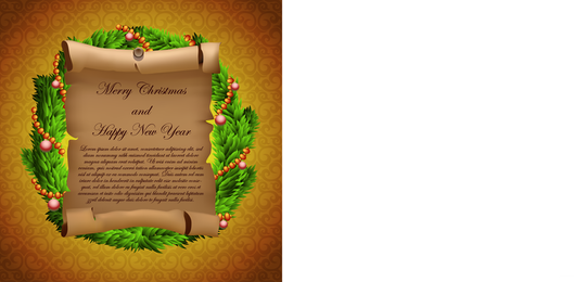 Pergamino tarjetas de felicitación y regalos Vector