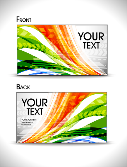 Brilliant Dynamic Business Card Template 01 Vector