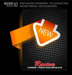 Neues orange Label-Etikett