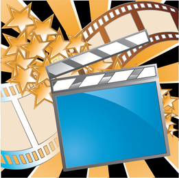 Vetor de tema de filme 5