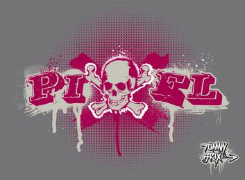Pixel Skull Design Tommy Brix