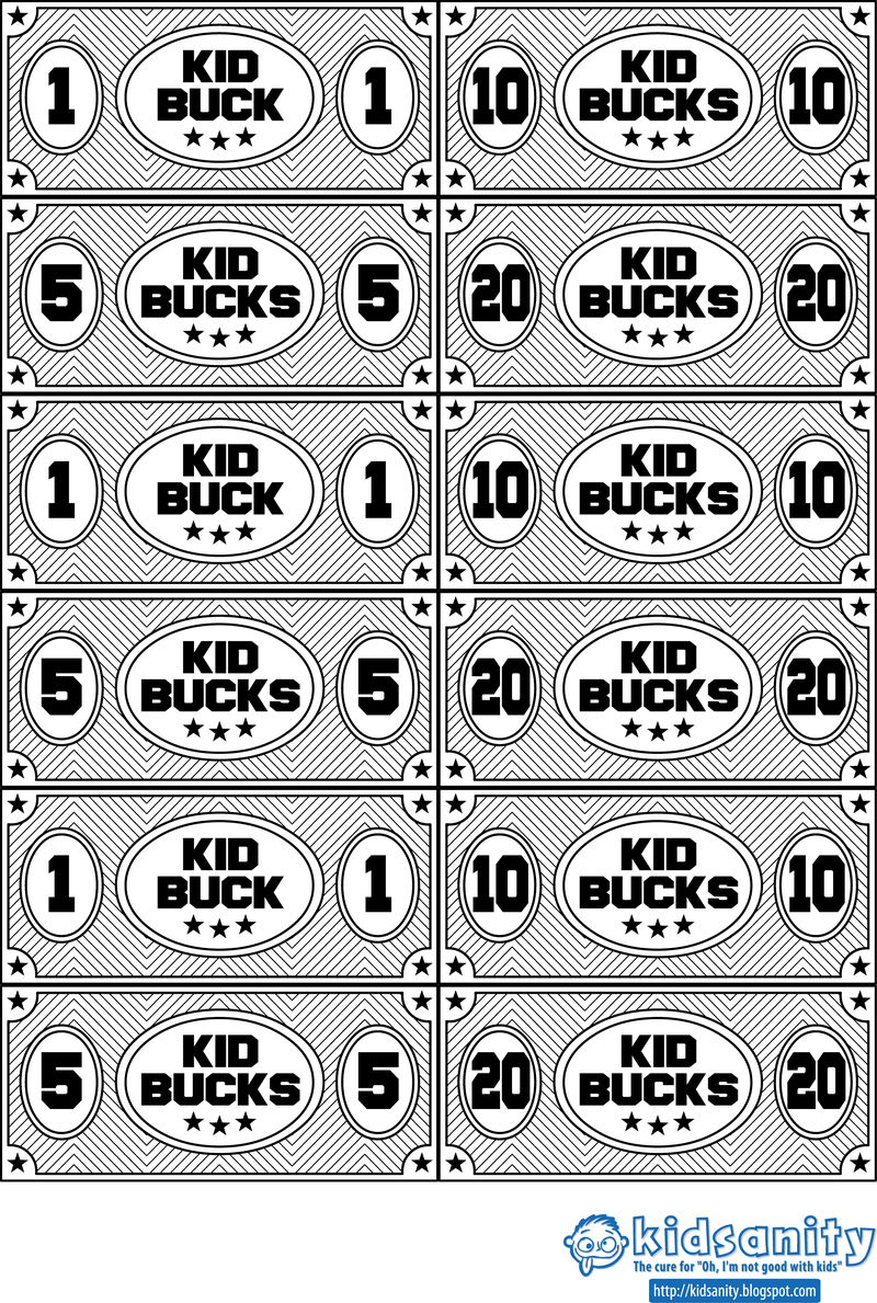 Kid bucks animal themed printable play money vector download image user pronofoot35fo Gallery