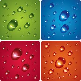 Vector de gotas de agua Wizardclear