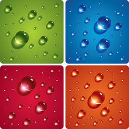 Wizardclear Water Droplets Vector