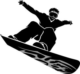 Snowboarder Vector de imagen