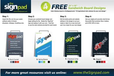4 Free Sandwich Board Design Vectors