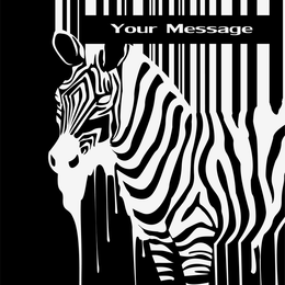 Zebra und Barcode-Vektor