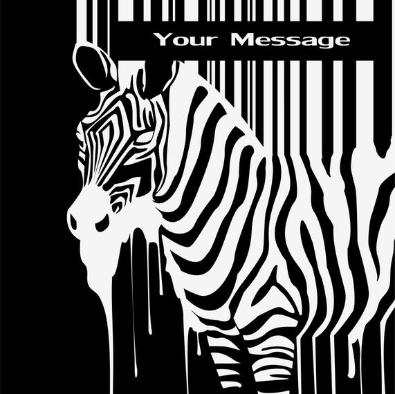 Zebra And Barcode Vector