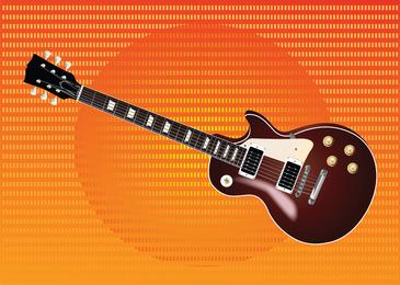Les Paul de la guitarra del vector