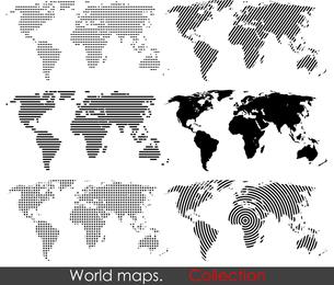 Mapa vectorial del mundo Cambiar el archivo