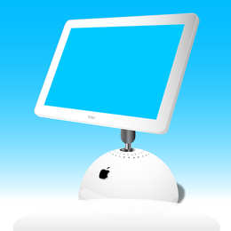 Imac screen illustration