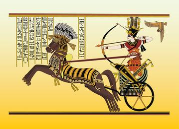 Egipto antiguo arte vectorial