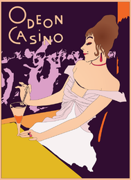 Casino retro del cartel del vector