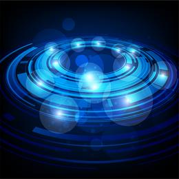 Technological Sense Blue Light Vector