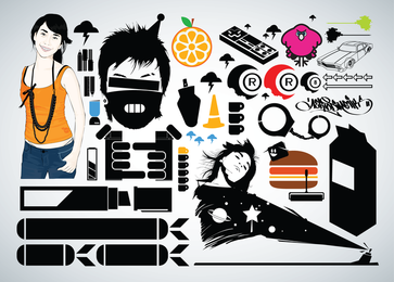 Kostenloses Vector Graphic Pack