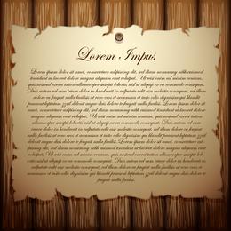 Madeira com o vetor de papel velho 1